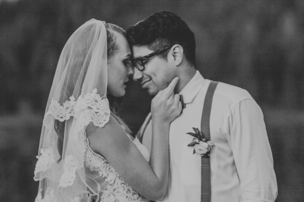 black and white dimple groom cute Snoqualmie Pass Adventure Elopement by Marcela Garcia Pulido Portland Wedding Photographer