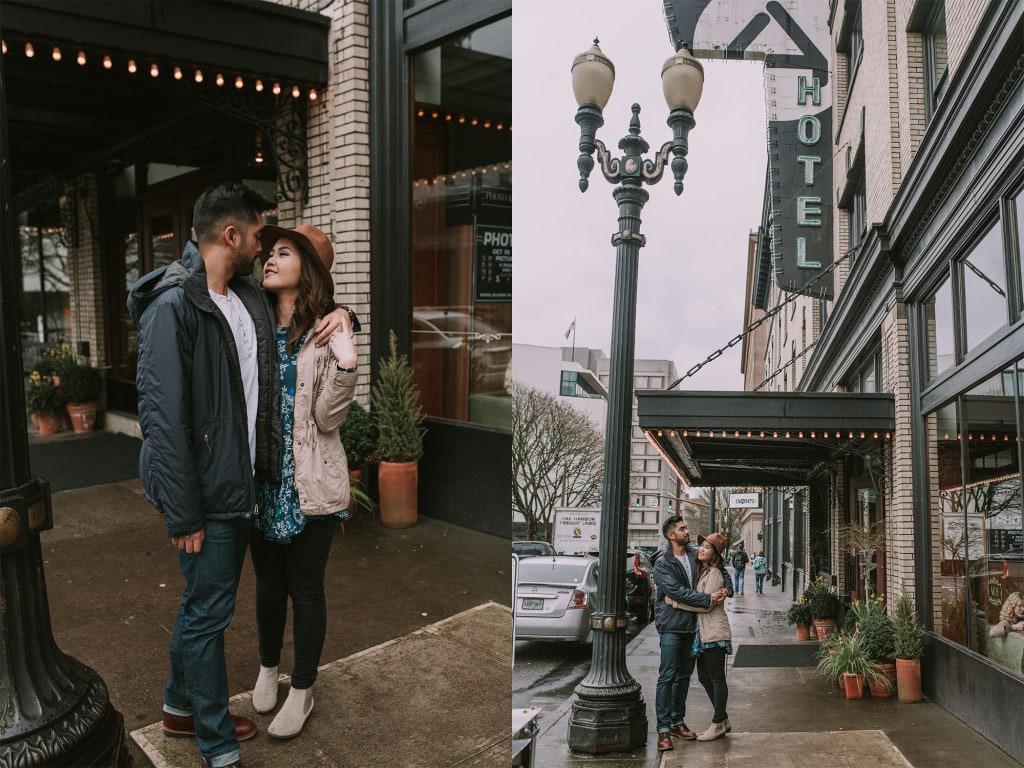 Ace Hotel Portland cute couple kissing
