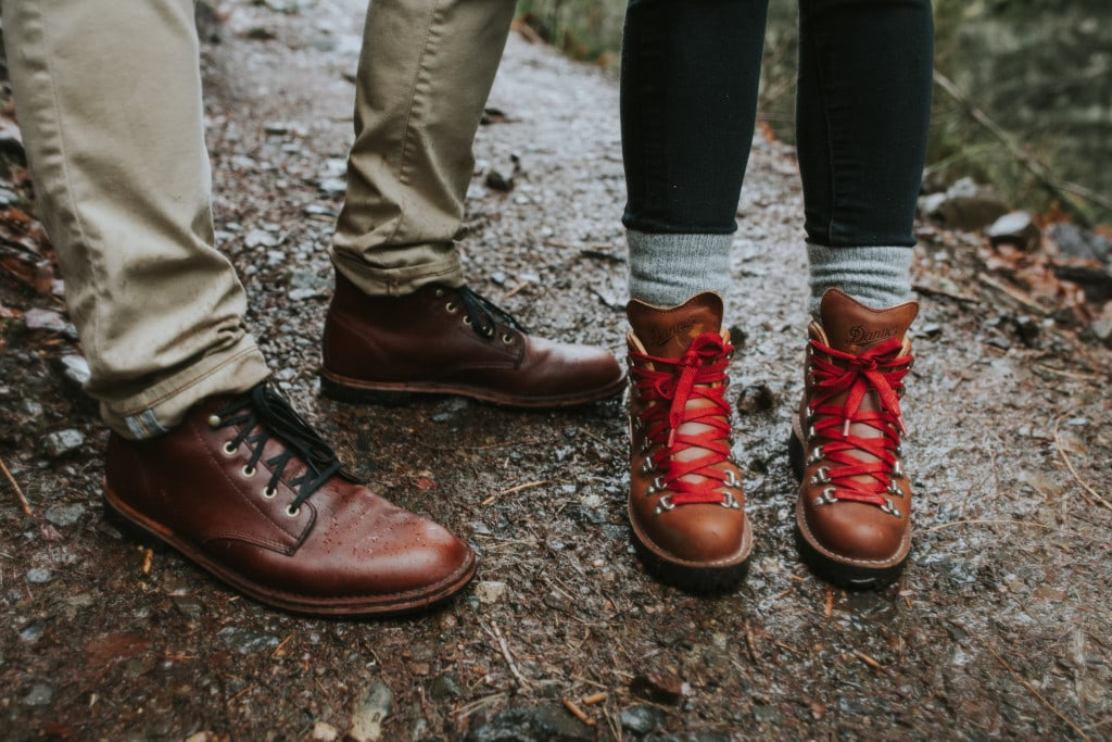 matching his and hers danner boots by Marcela Pulido Portland Wedding Photographer
