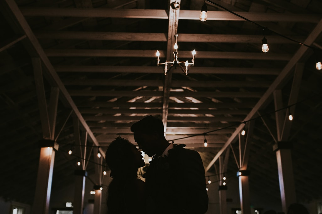 bride and groom first dance Dairyland Wedding Photographer Portland Northern California Marcela Pulido
