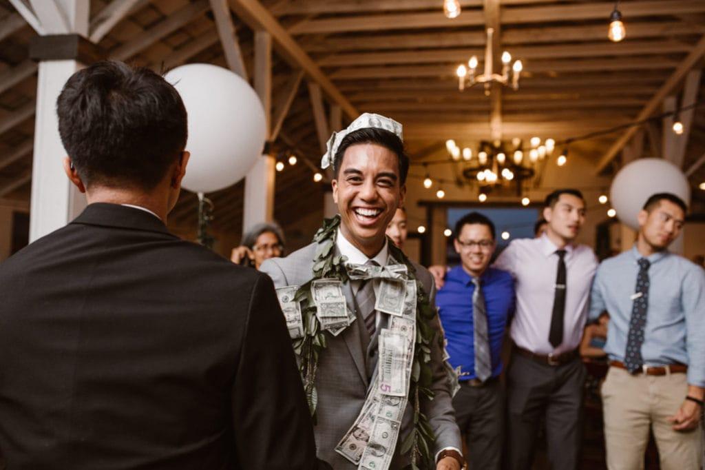 money dance and crown Dairyland Wedding Photographer Portland Northern California Marcela Pulido