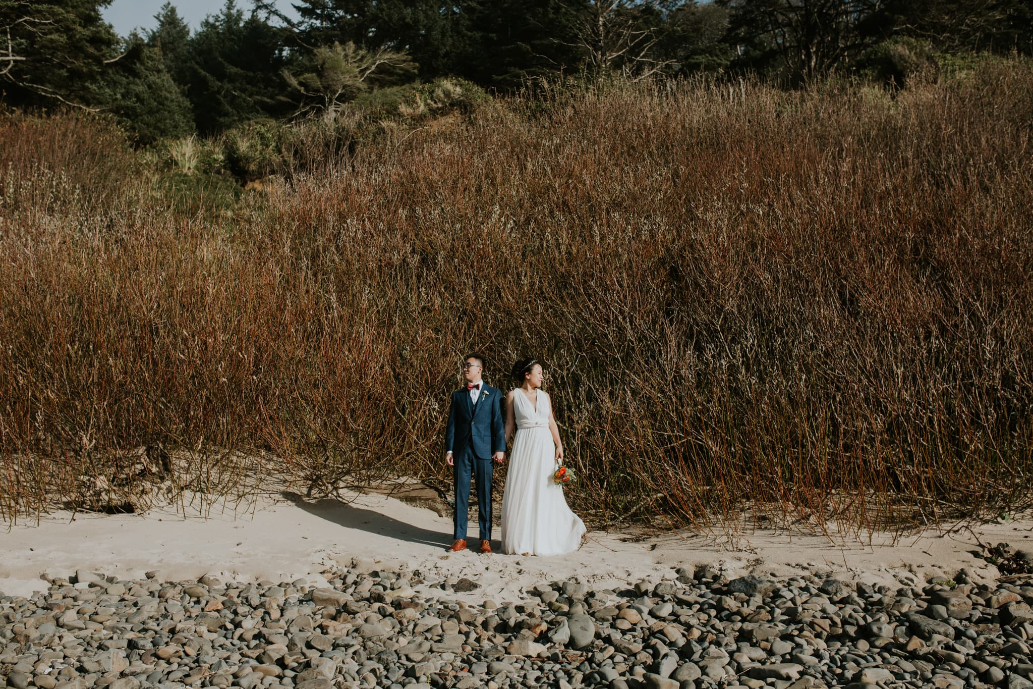 oregon coast astoria haystack rock cannon beach bhldn gown urban outfitters Portland Wedding Photographer Marcela Pulido