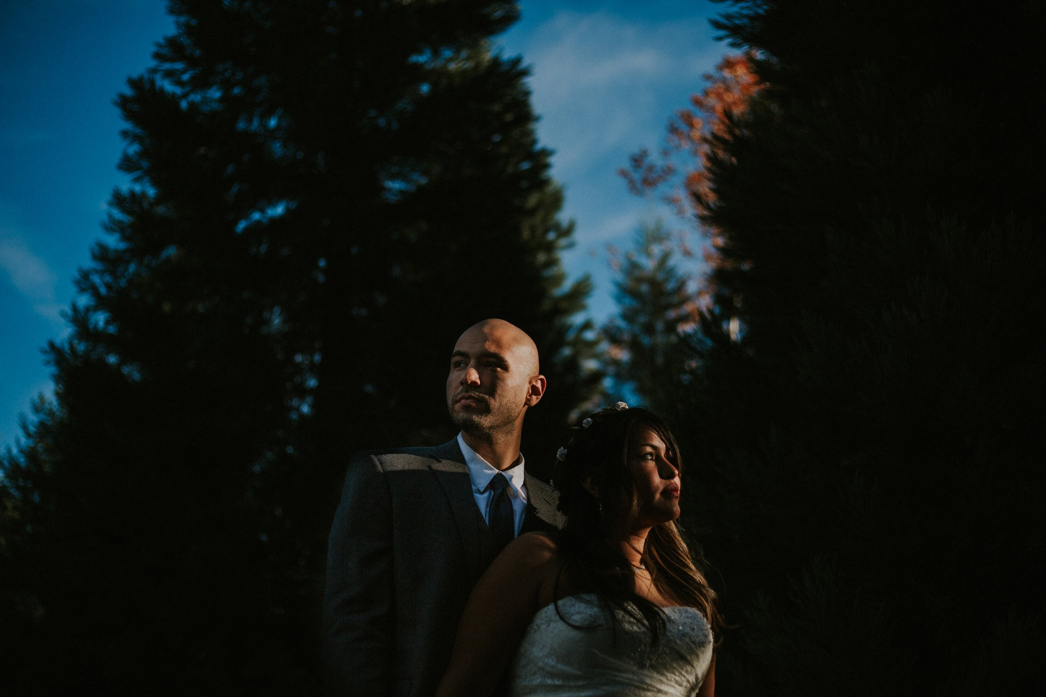 dramatic epic wedding portrait Portland Wedding Photographer Marcela Pulido