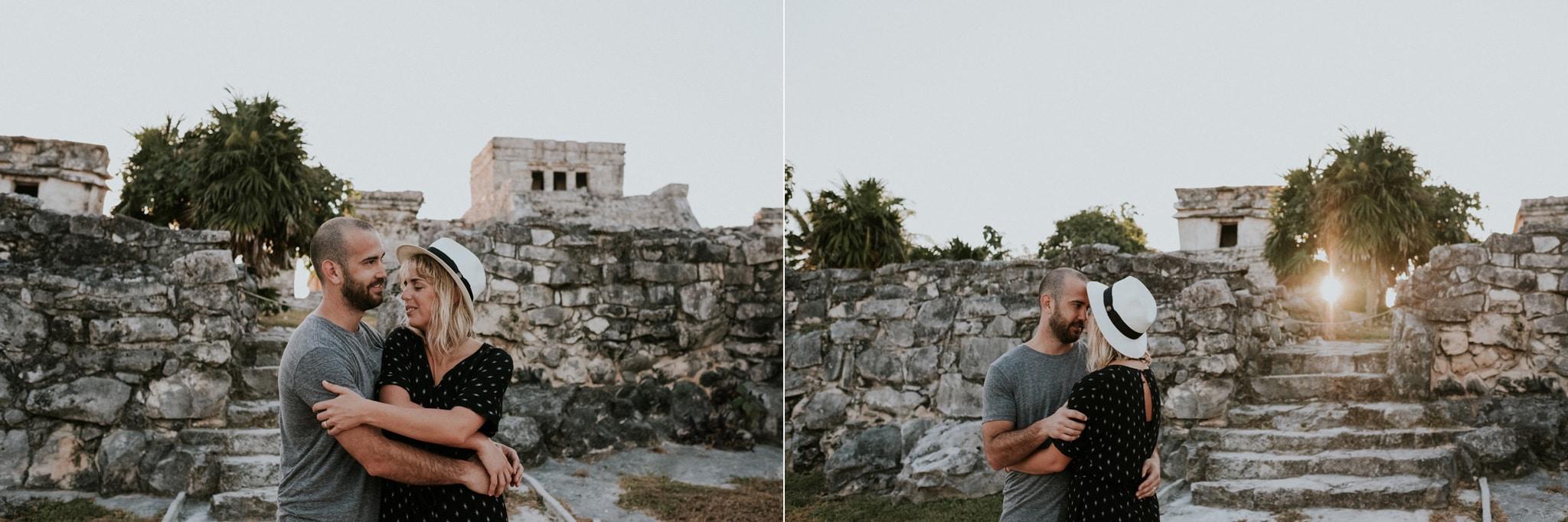 sunrise couples session Quintana Roo, Mexico, Tulum Wedding Photographer Marcela Pulido