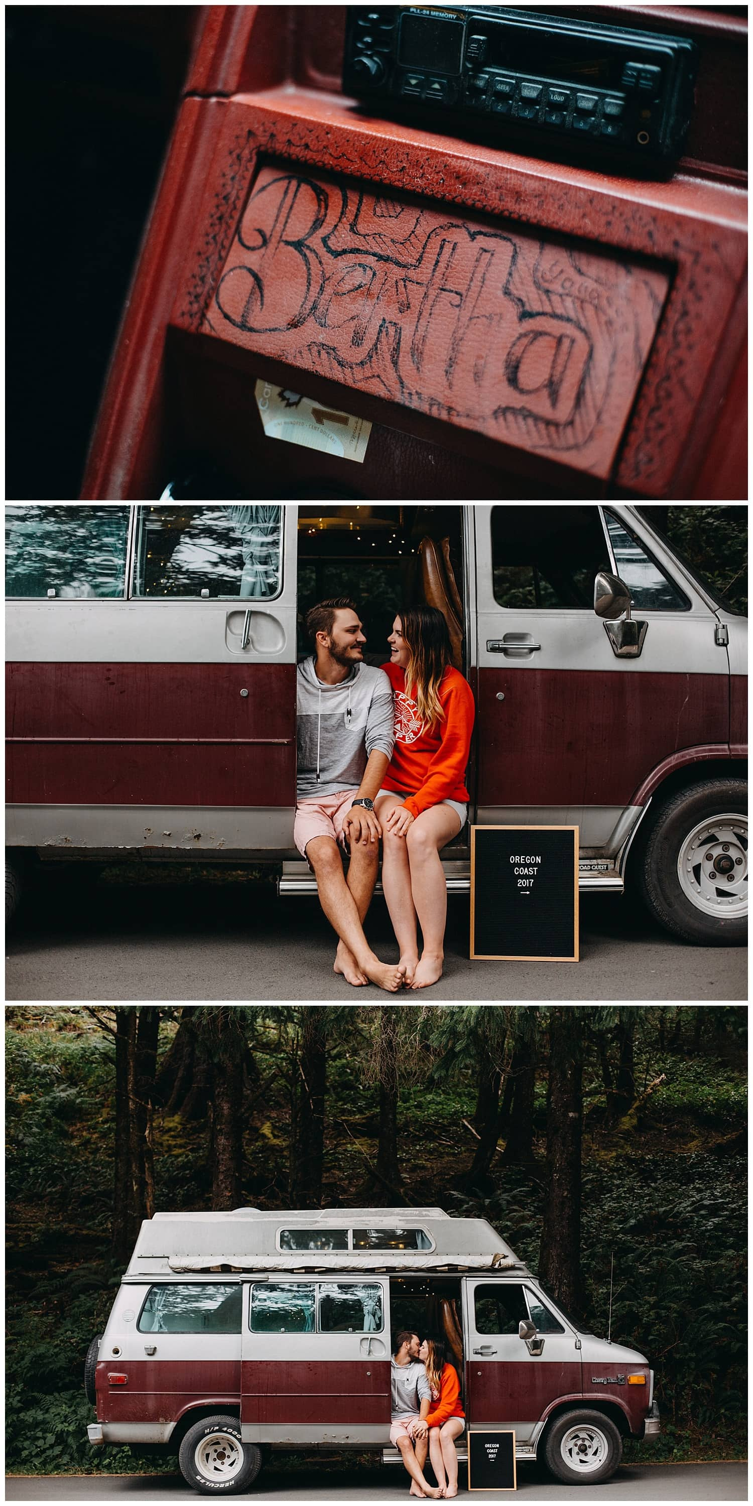Bethany and Jesse drove down from Alberta Canada to Cannon Beach in a camper van named Bertha by Marcela Pulido Portland Wedding Photographer