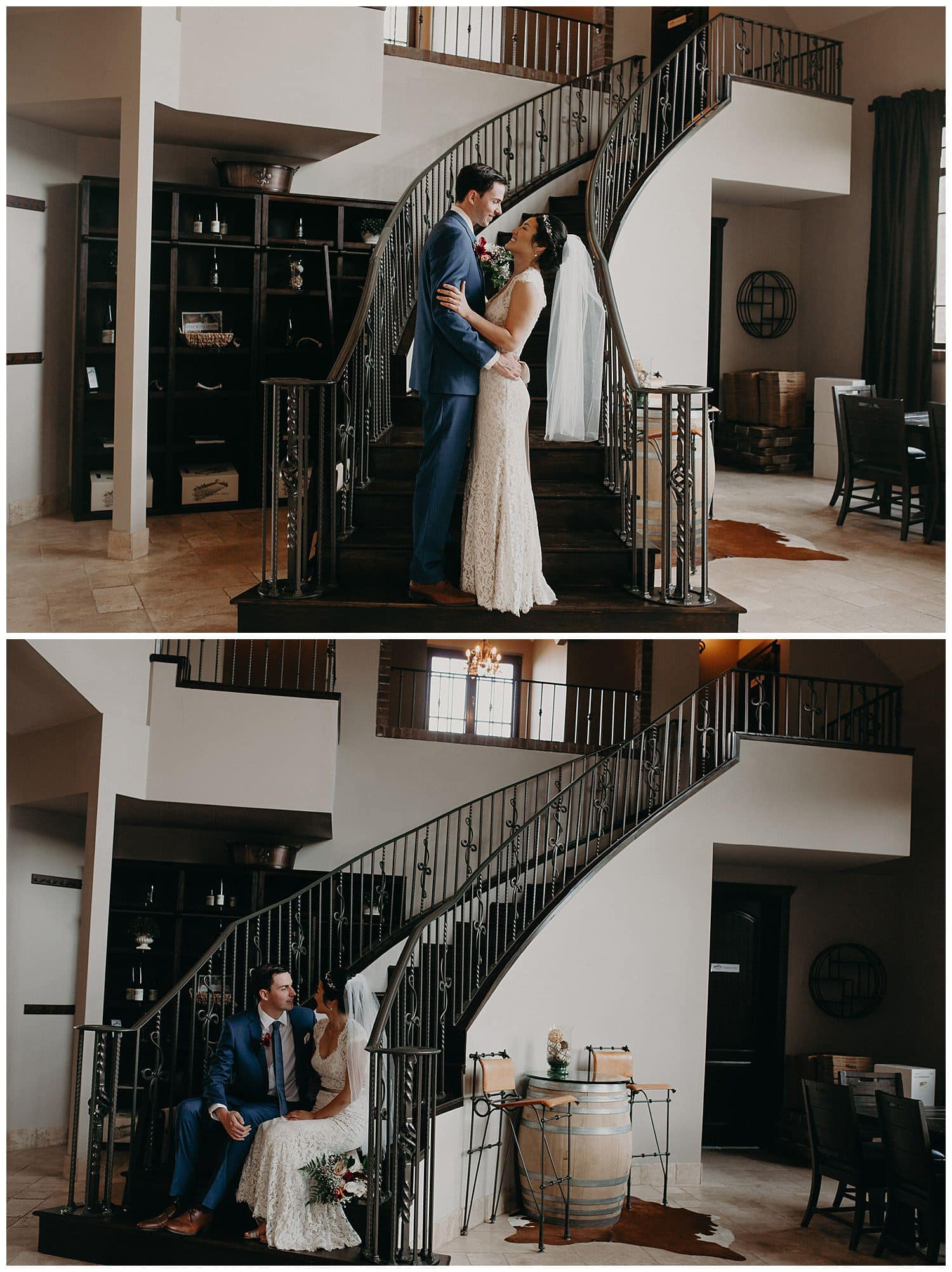 classic staircase wedding shot at beacon hill wedding