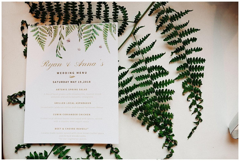 fern wedding invitations at beacon hill wedding